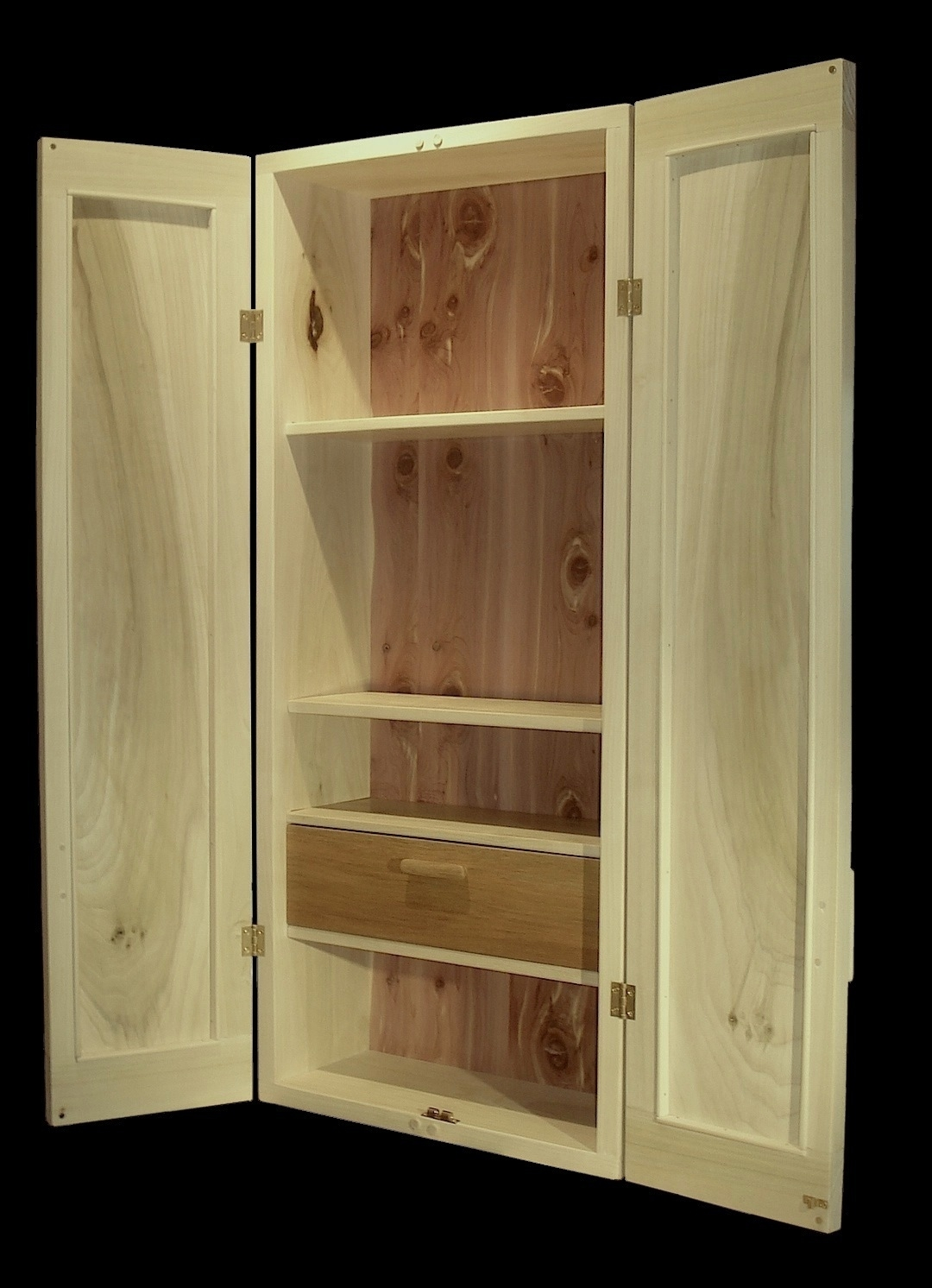 Solid Wood Wall Storage Cabinets