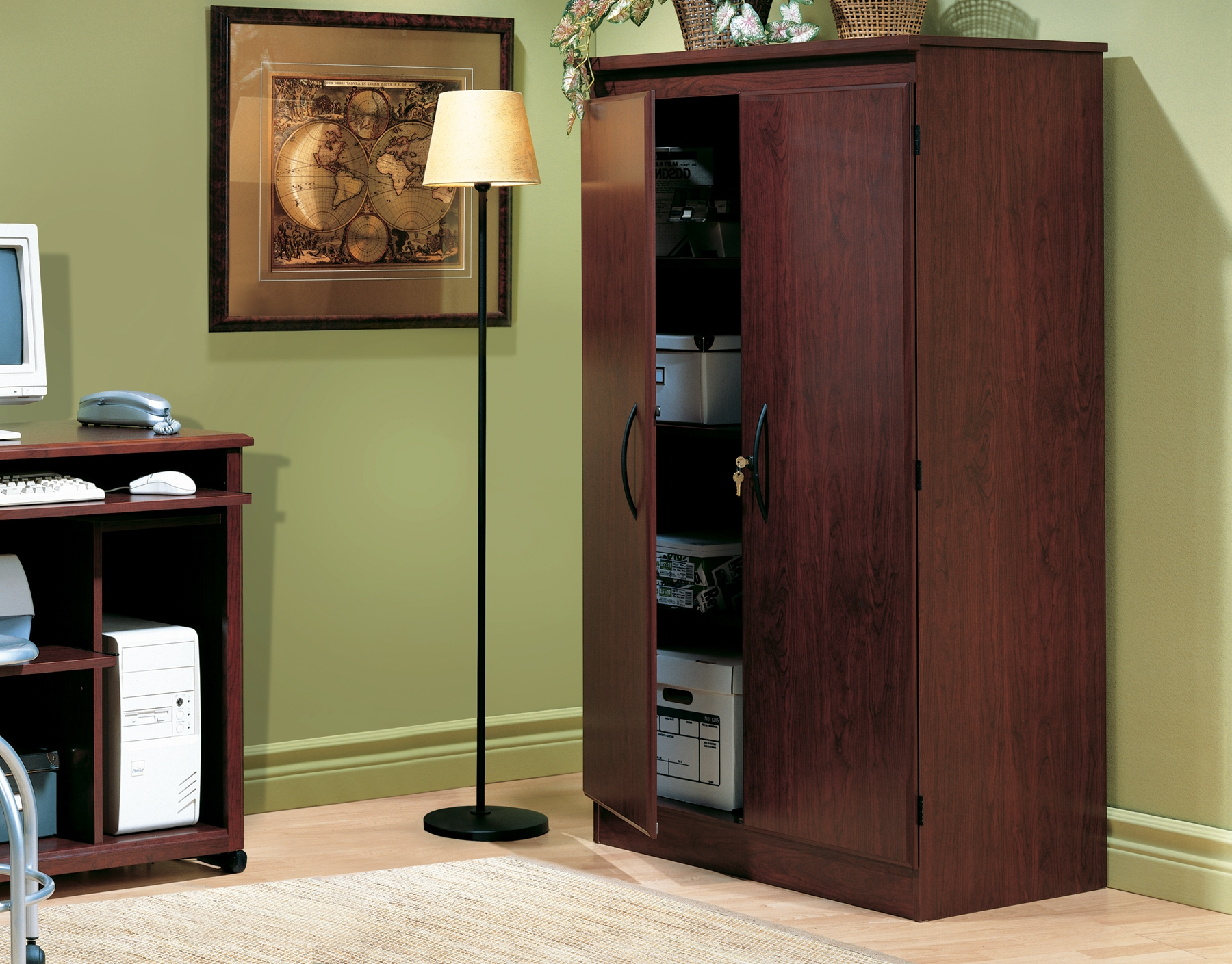 South Shore Storage Cabinet Royal Cherry