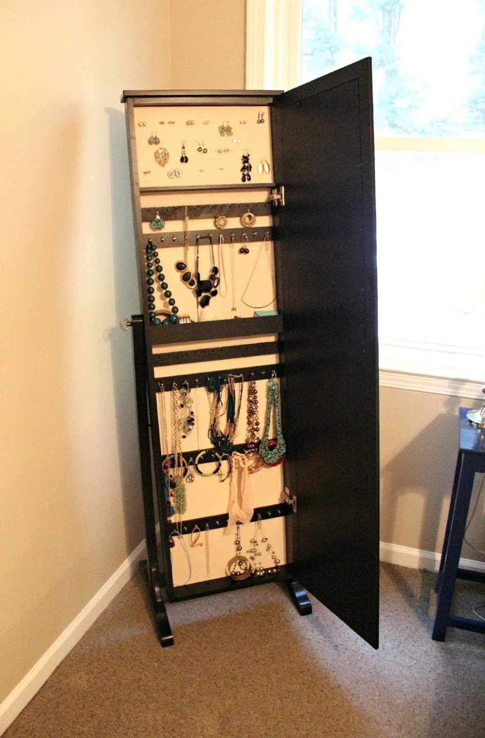 Sterling Silver Storage Cabinetwhite standing jewelry armoire new listingmirrored stand up box