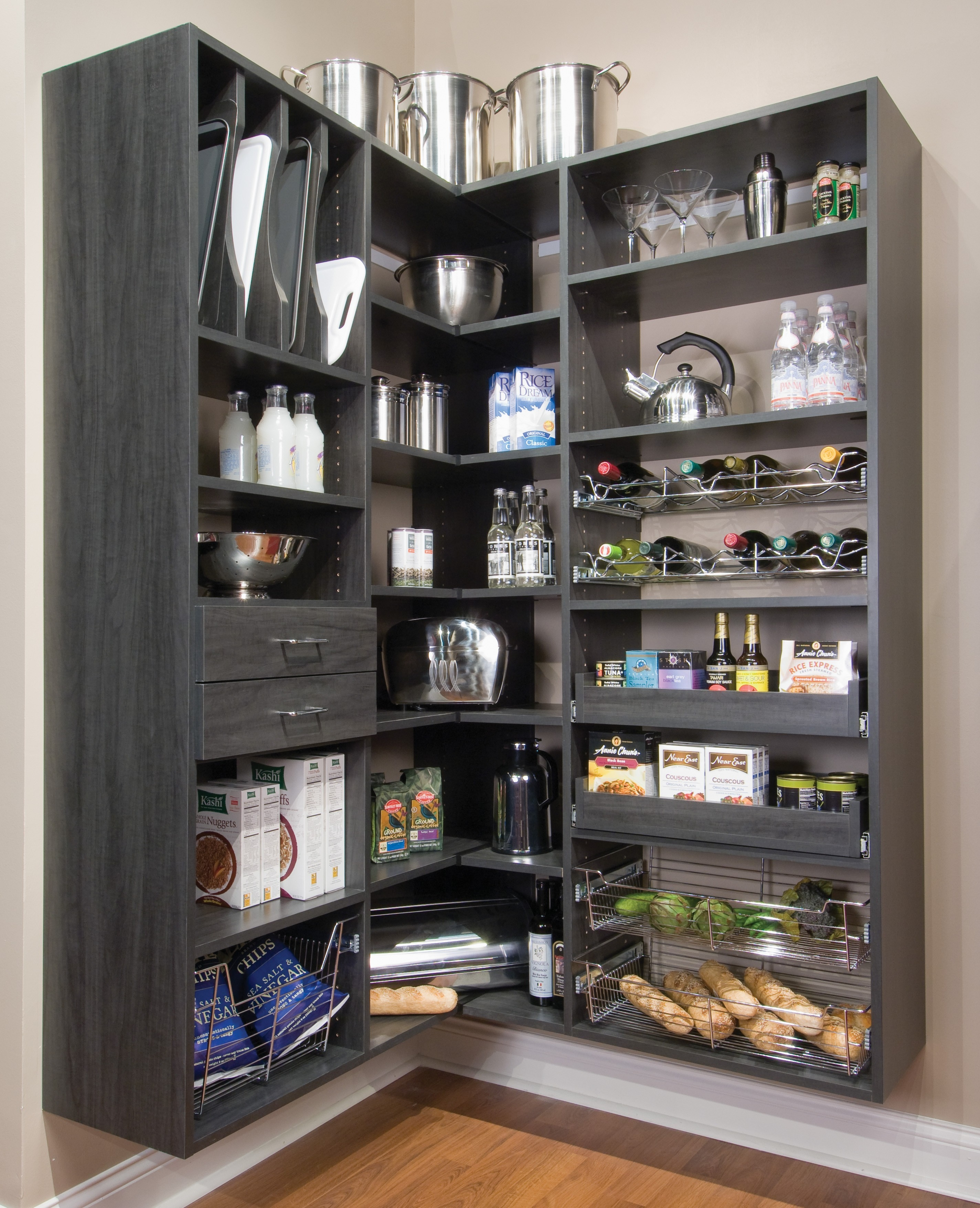 Storage Ideas For Kitchen Without Cabinets