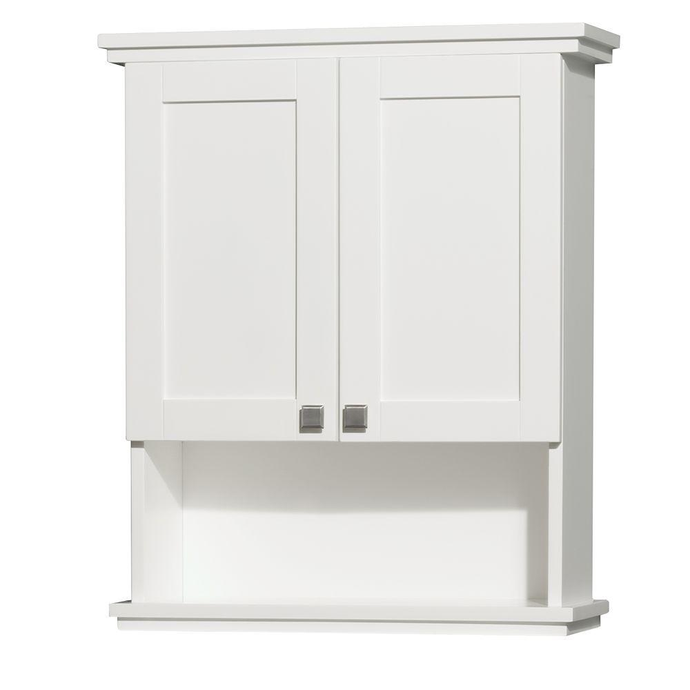 Permalink to White Bathroom Wall Storage Cabinets