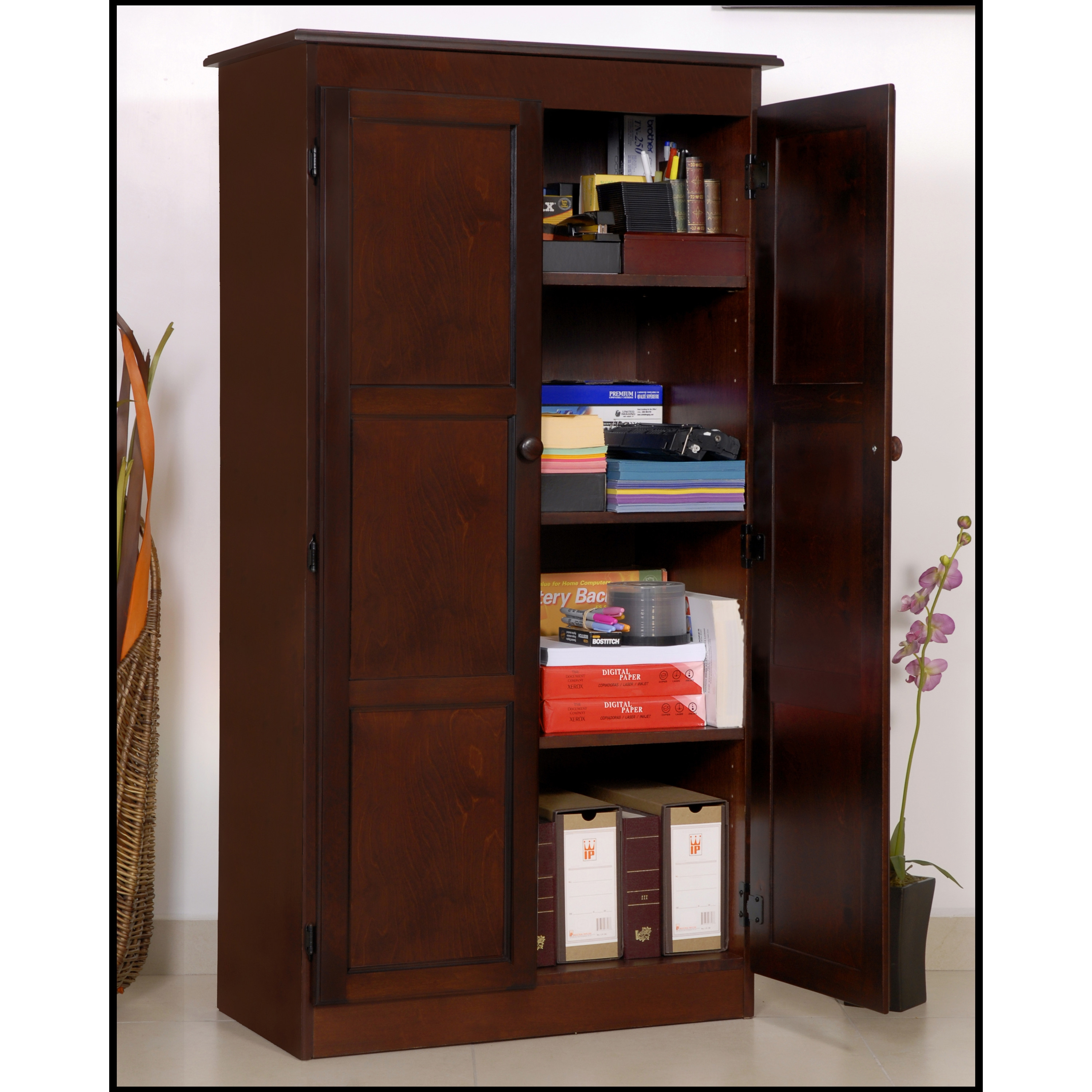 Wood Office Storage Cabinets With Doors