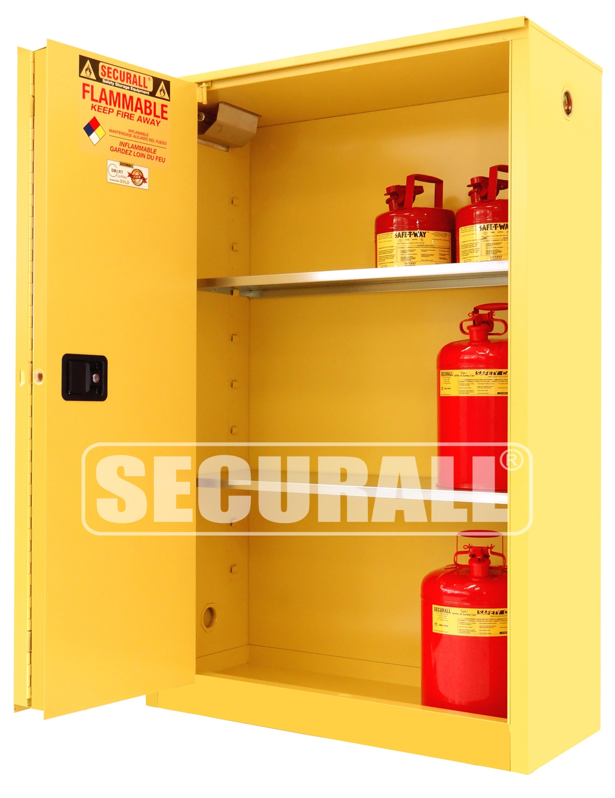Yellow Chemical Storage Cabinets