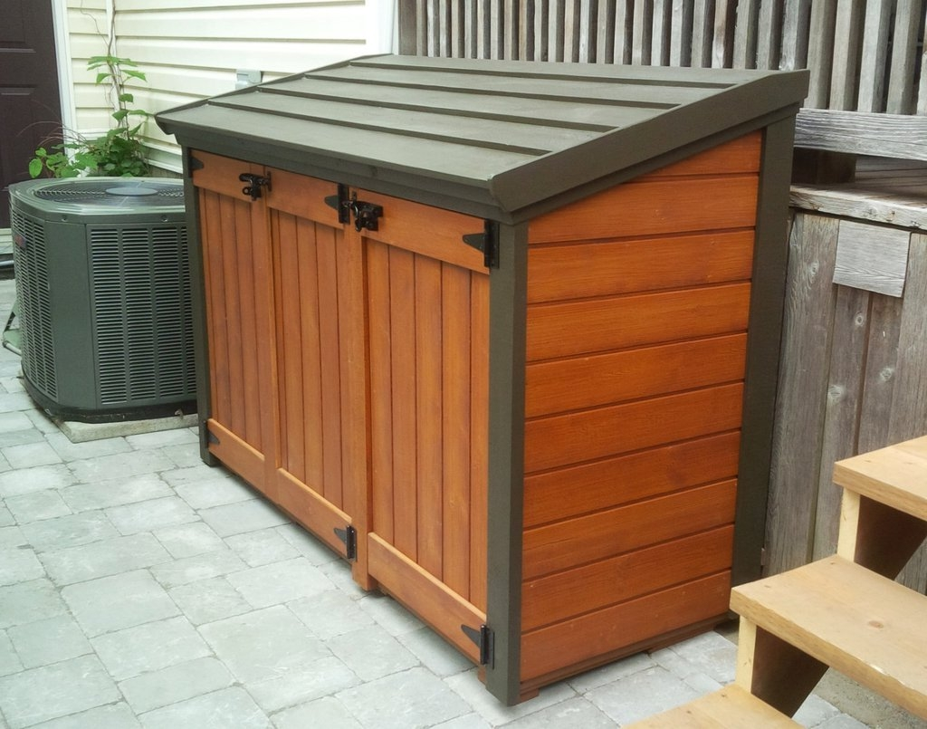 Outdoor Garbage Can Storage Cabinet
