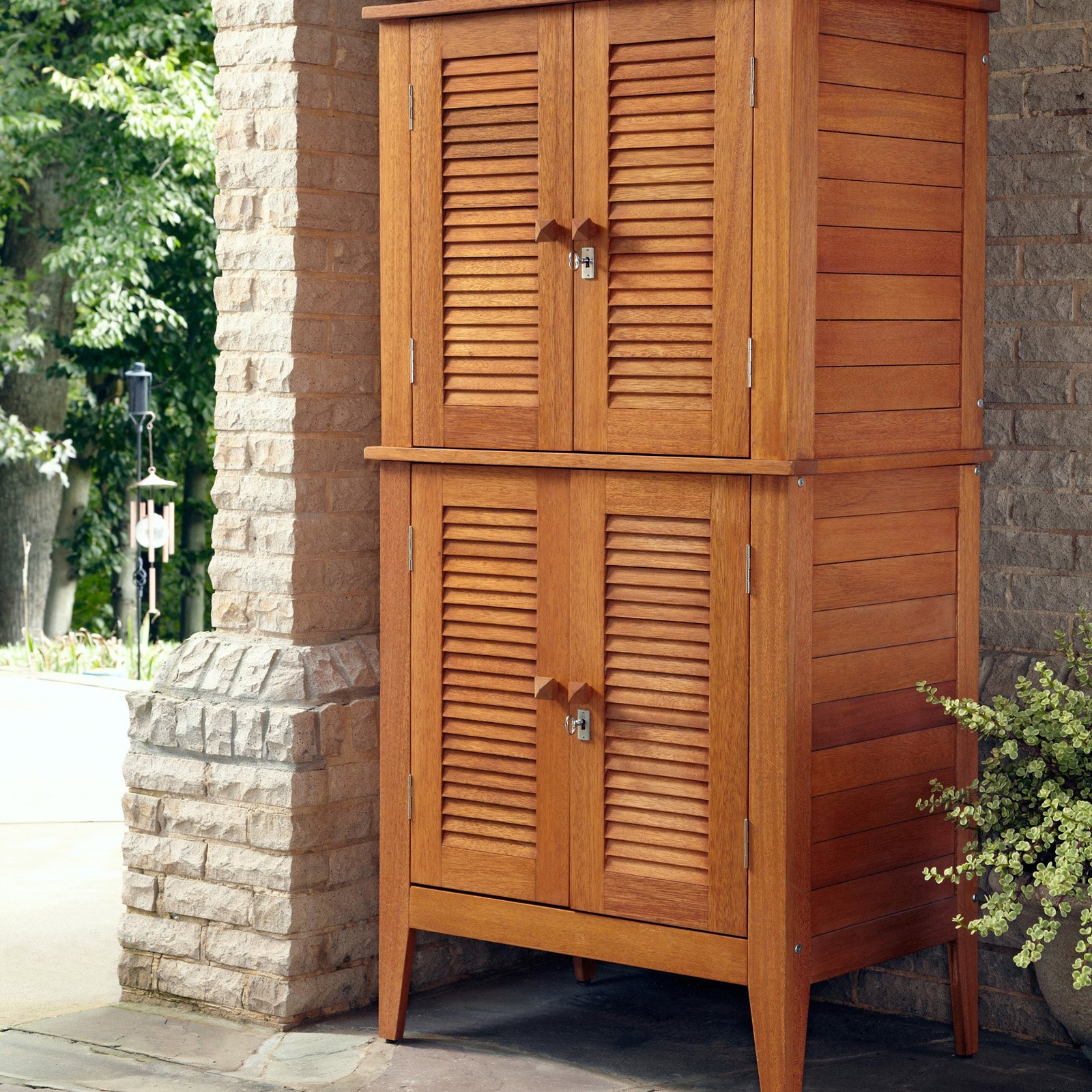 Outdoor Storage Cabinet Woodhome styles montego bay four door multi purpose storage cabinet