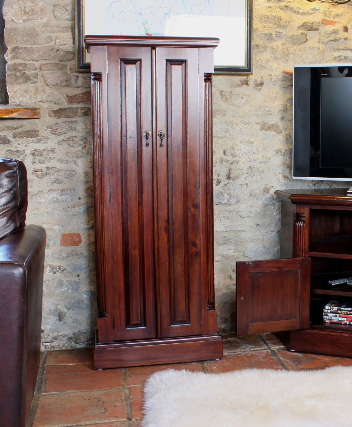 Permalink to Solid Mahogany Dvd Storage Cabinet