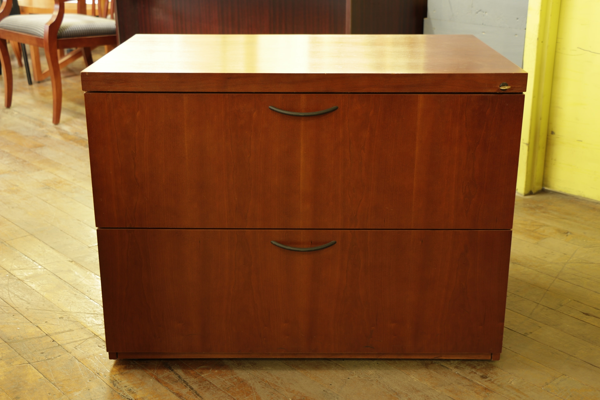 Wood File Cabinet With Storage