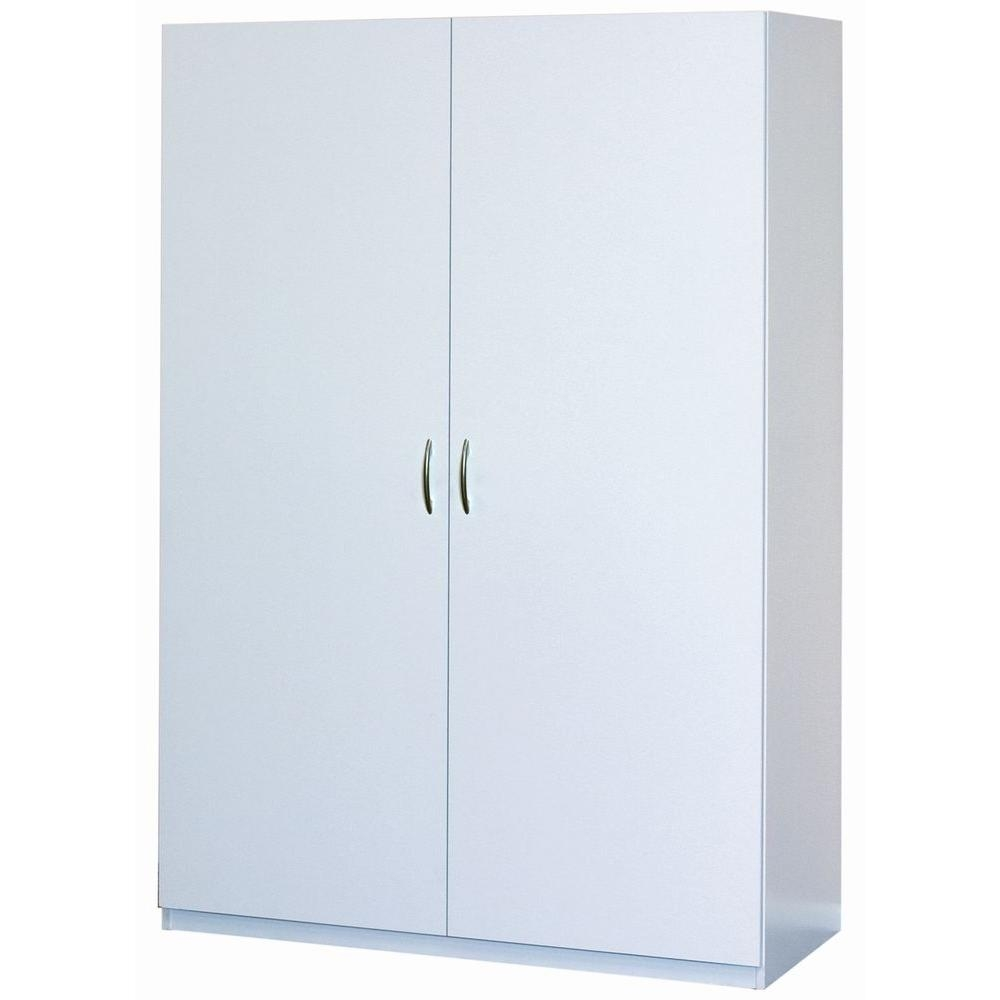 6 Foot Tall Storage Cabinetclosetmaid 48 in multi purpose wardrobe cabinet in white 12336