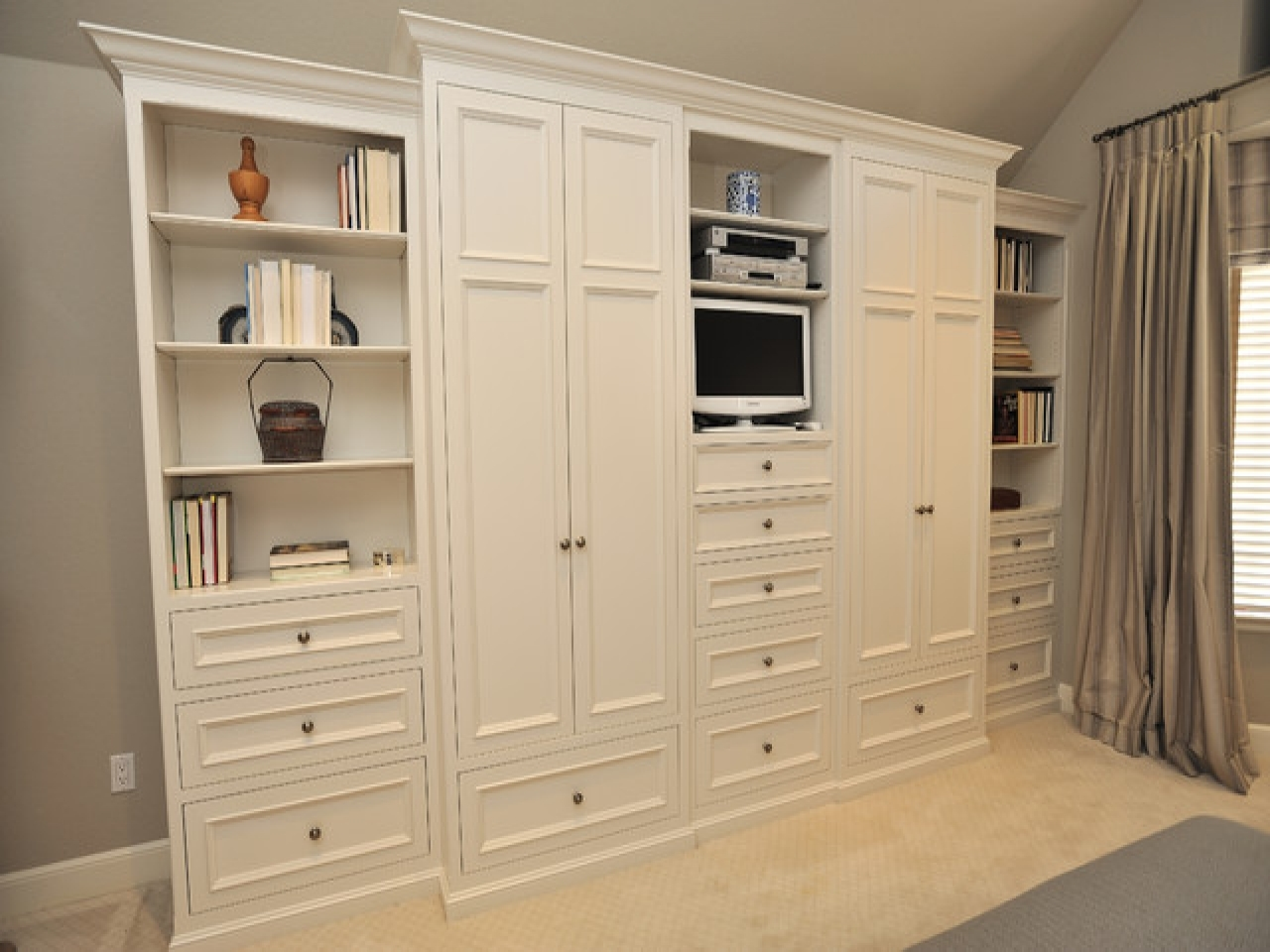 Bedroom Storage Cabinets Wall