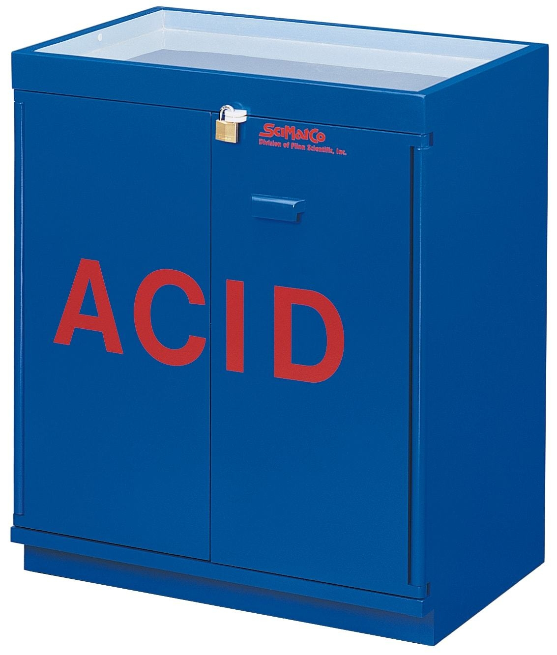 Blue Chemical Storage Cabinet
