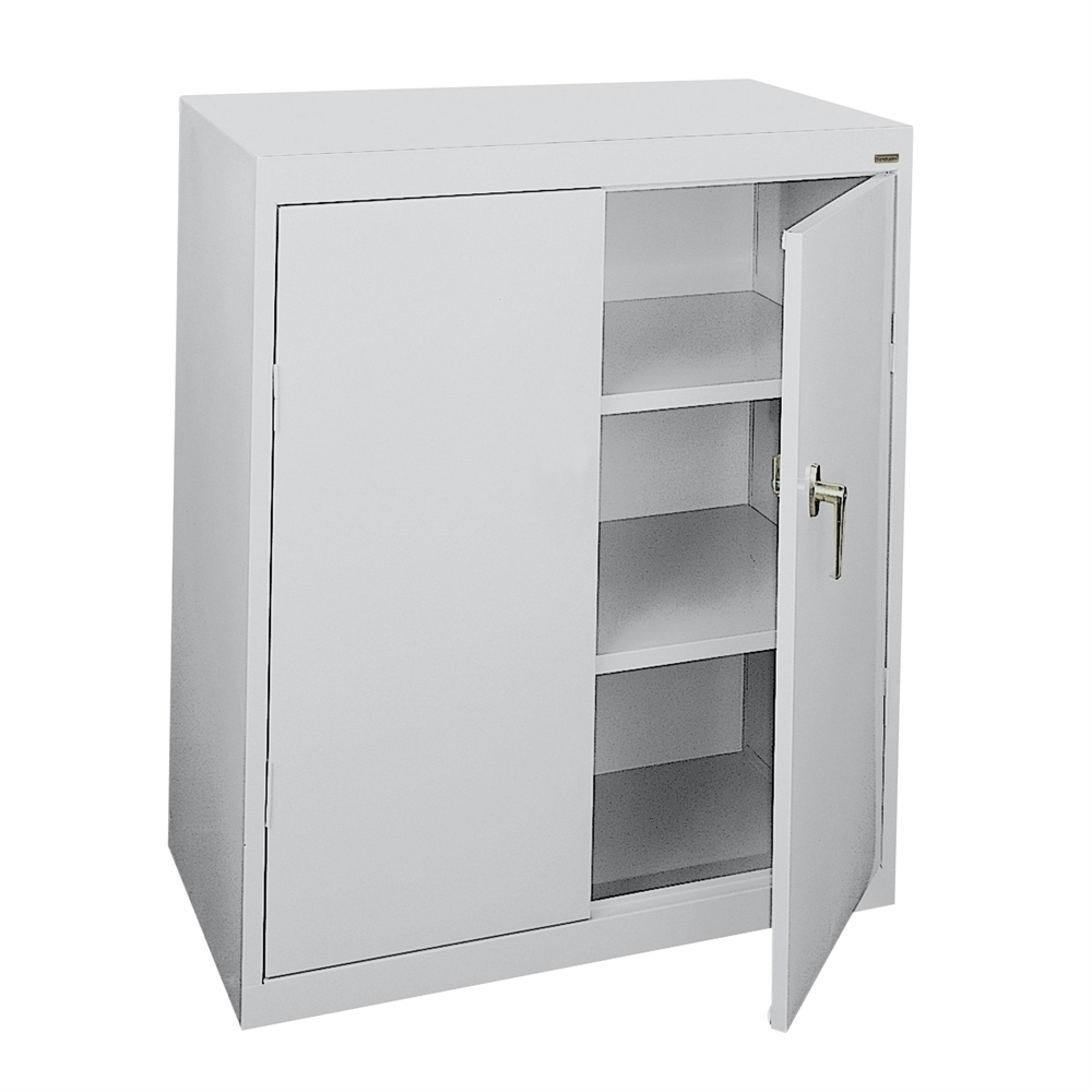Counter Height Metal Storage Cabinet