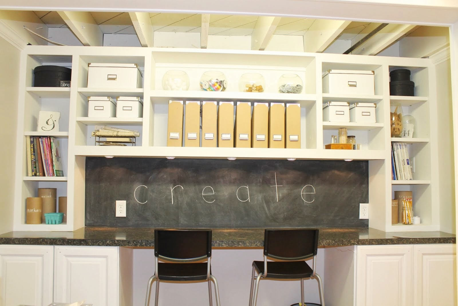 Craft Storage Cabinet With Table