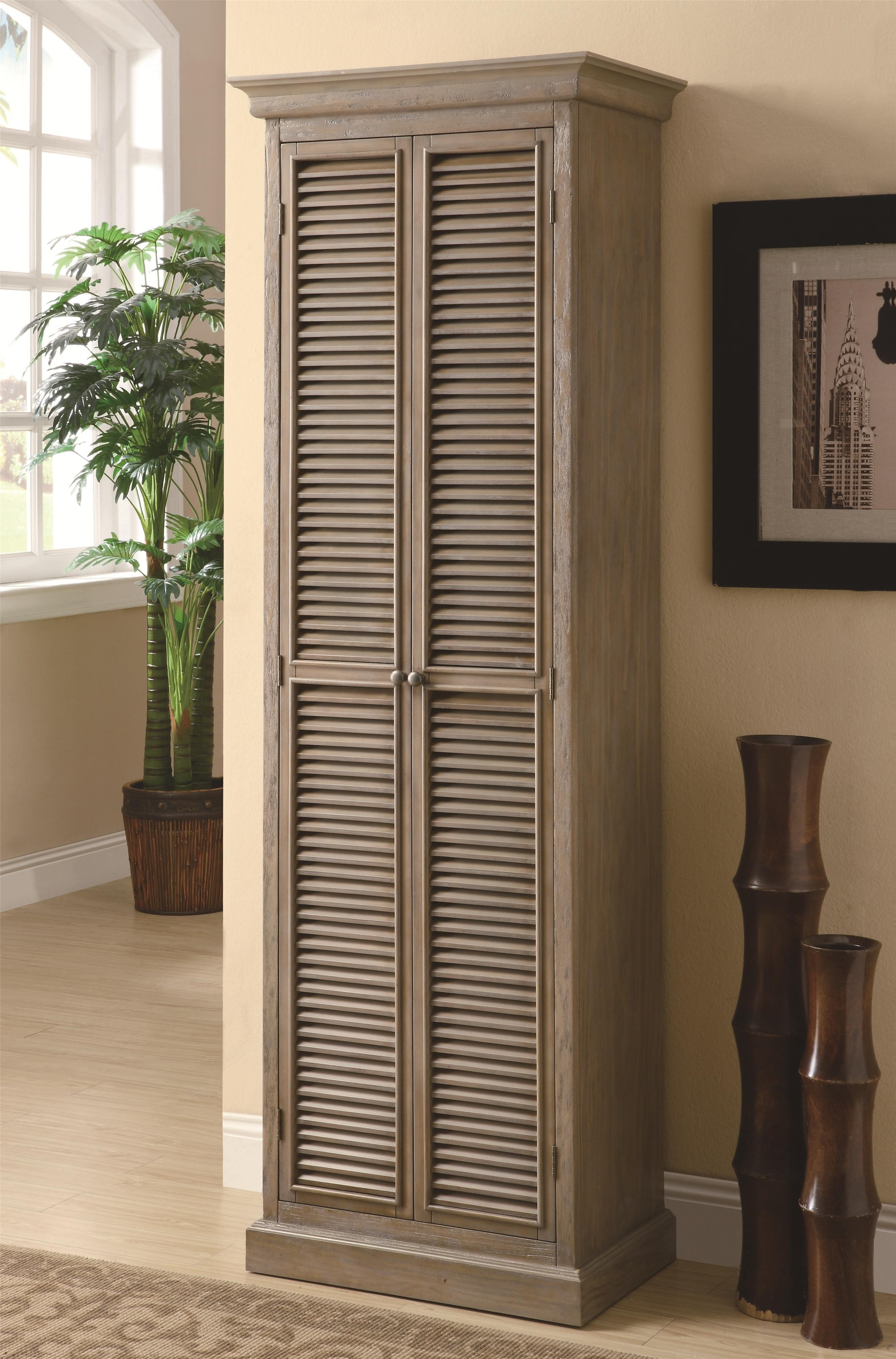 Narrow Tall Storage Cabinet With Doors