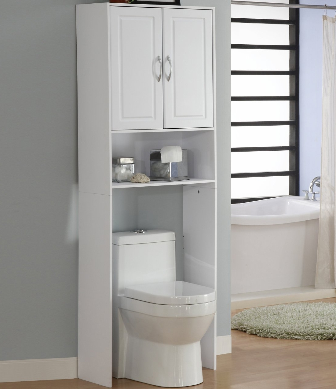 Over The Toilet Storage Cabinet White