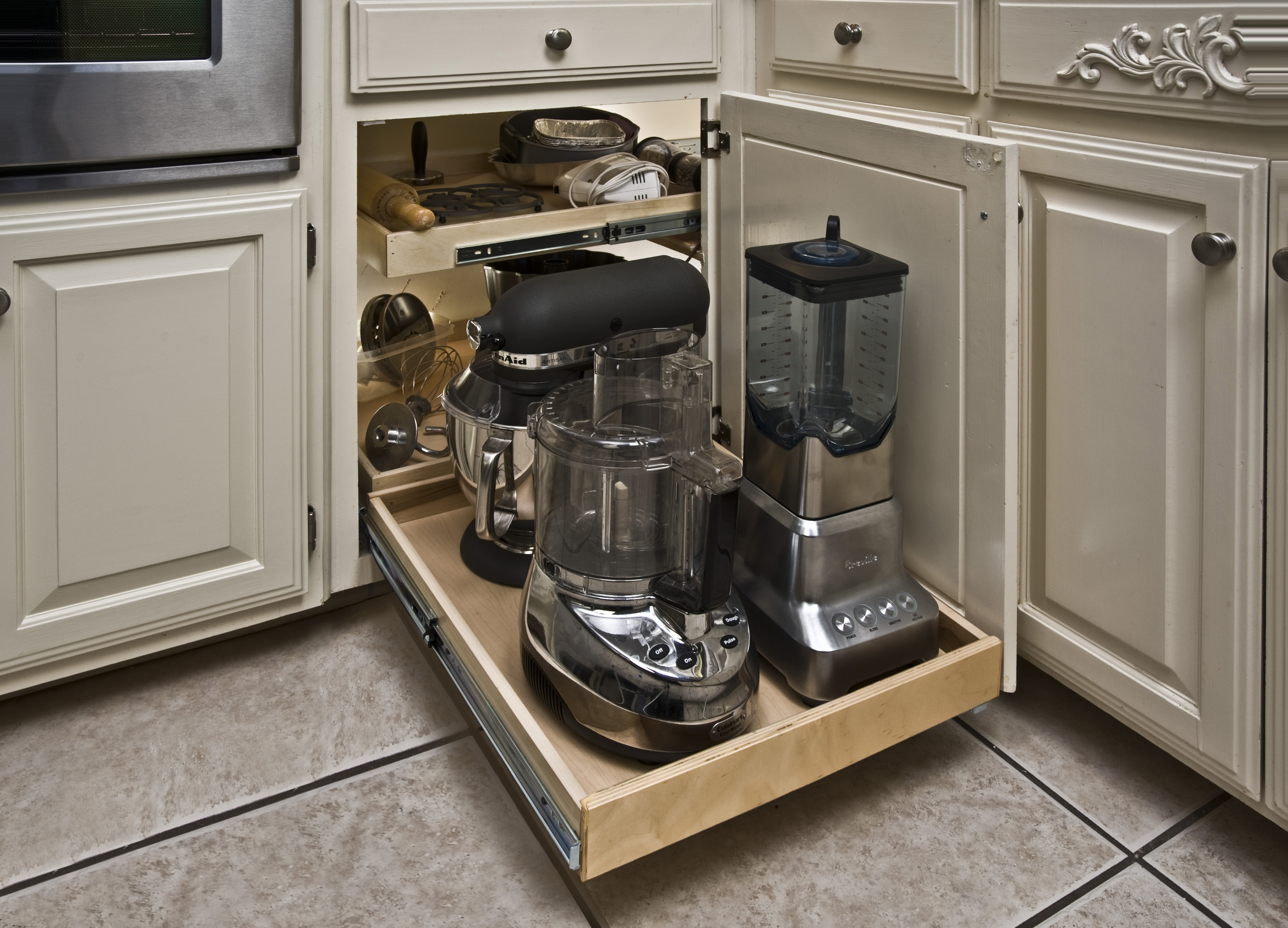 Pull Out Corner Cabinet Storage