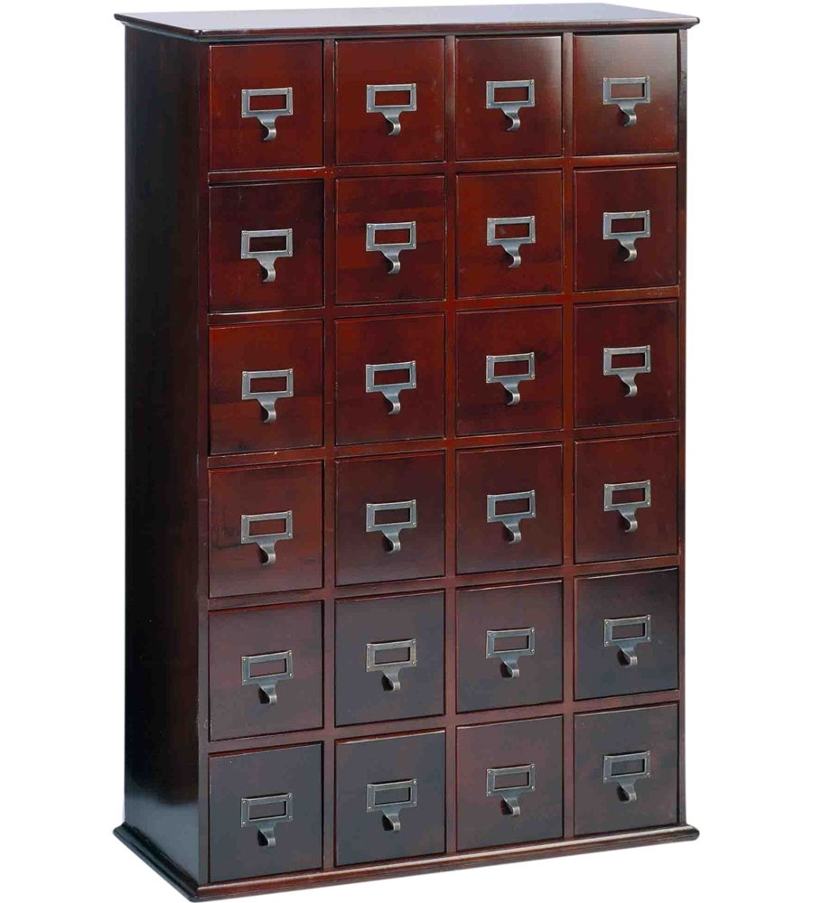 Apothecary Style Cd Storage Cabinet Cherry
