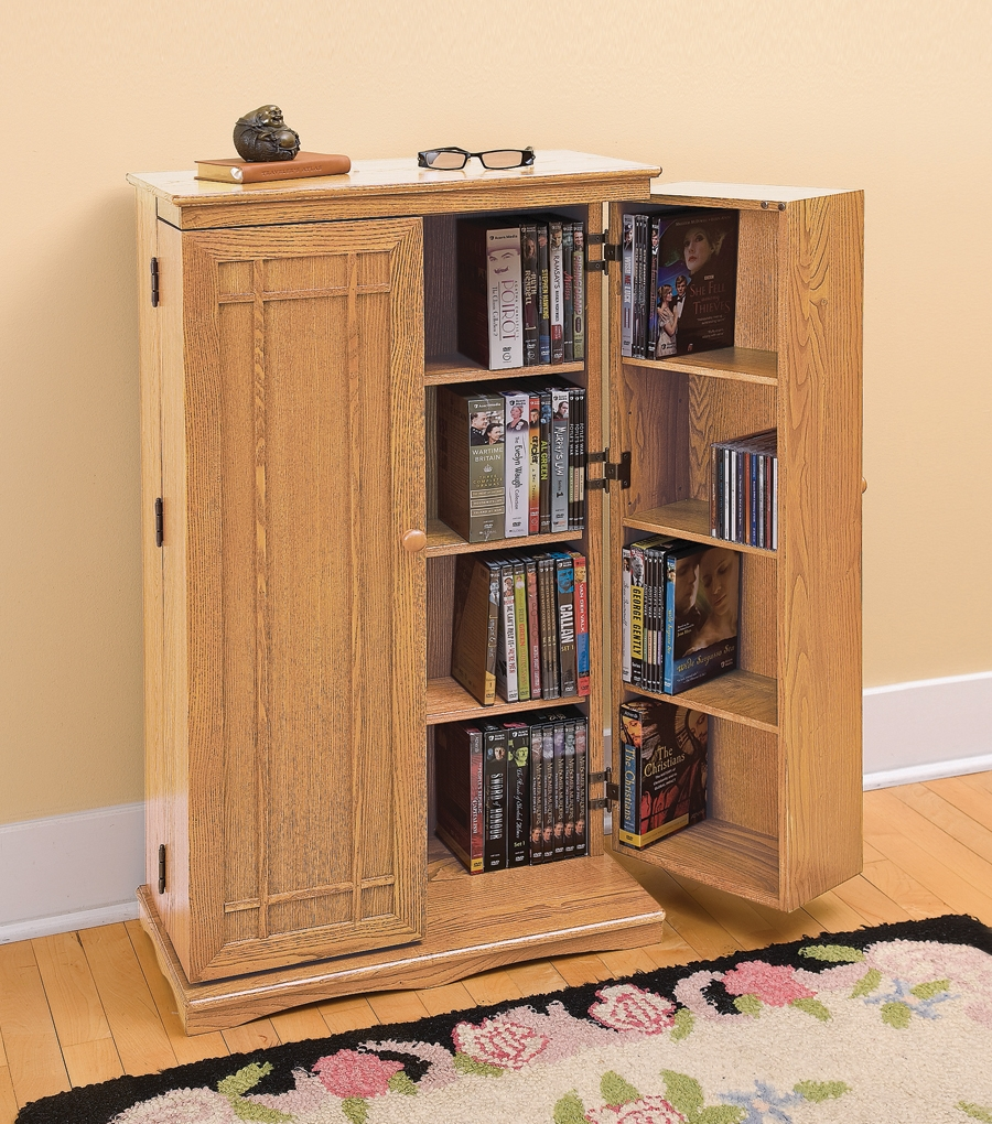 Cd And Dvd Storage Cabinet With Doors