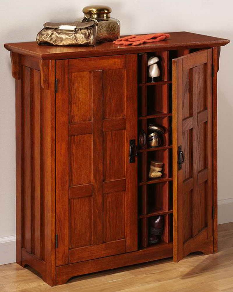 Cherry Wood Shoe Storage Cabinet800 X 1004