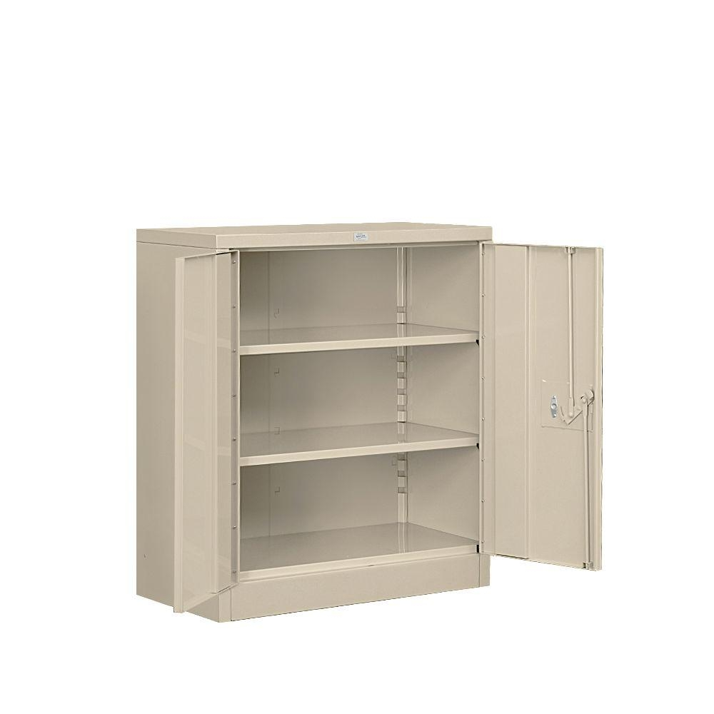 Counter Height Storage Cabinet With Doors