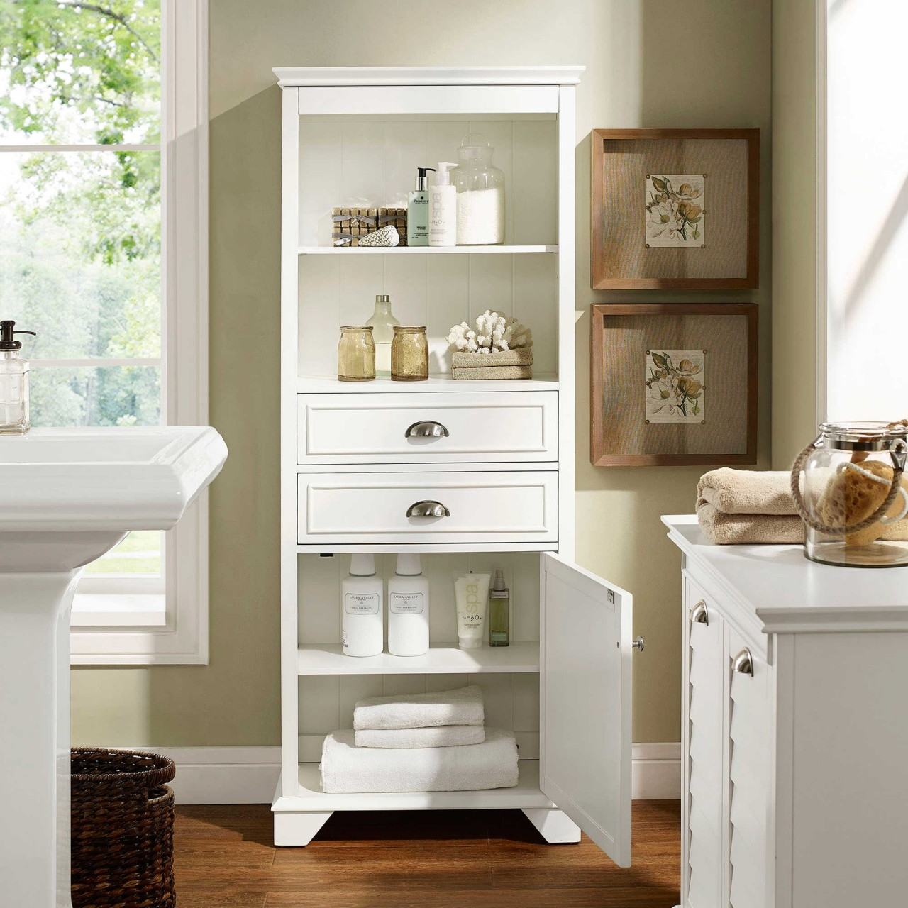 Permalink to Large Bathroom Storage Cabinets