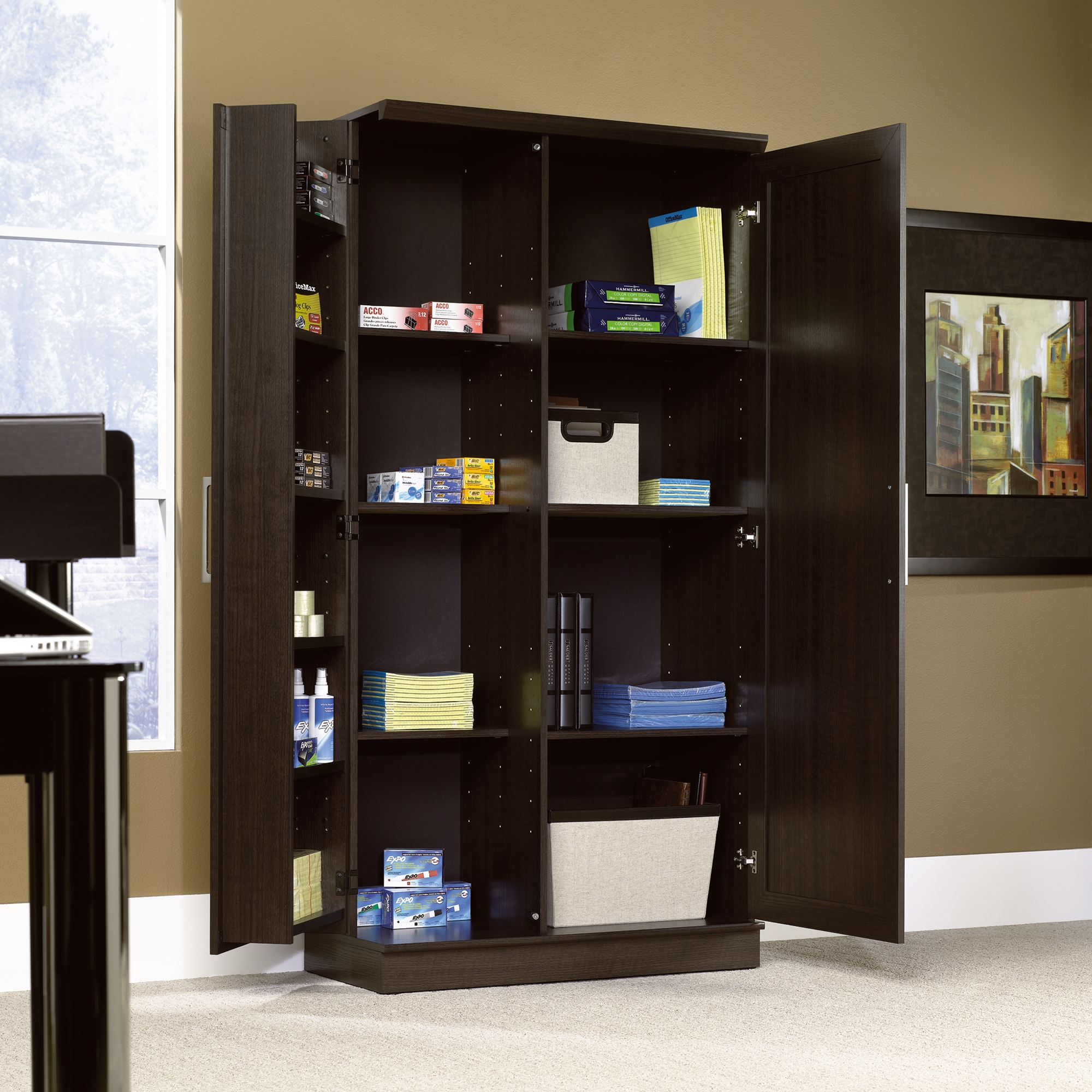 Permalink to Large Storage Cabinet With Shelves