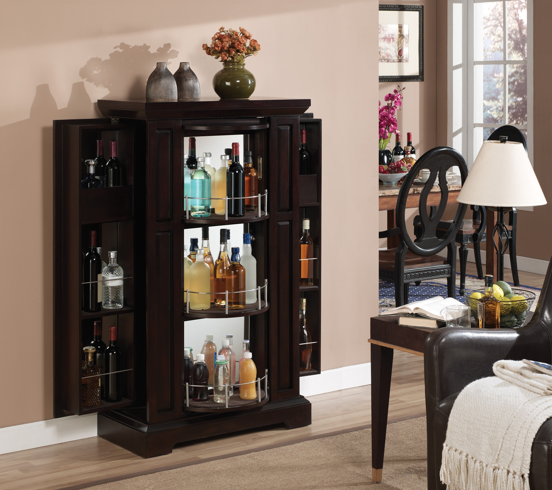 Liquor Bottle Storage Cabinets