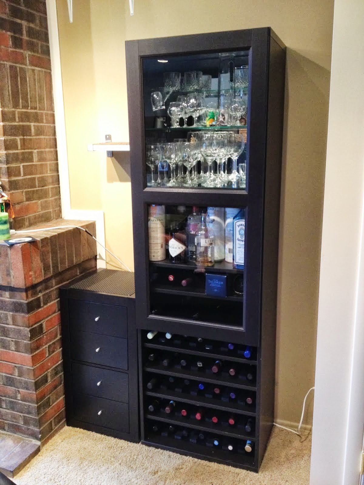 Liquor Storage Cabinet With Lock