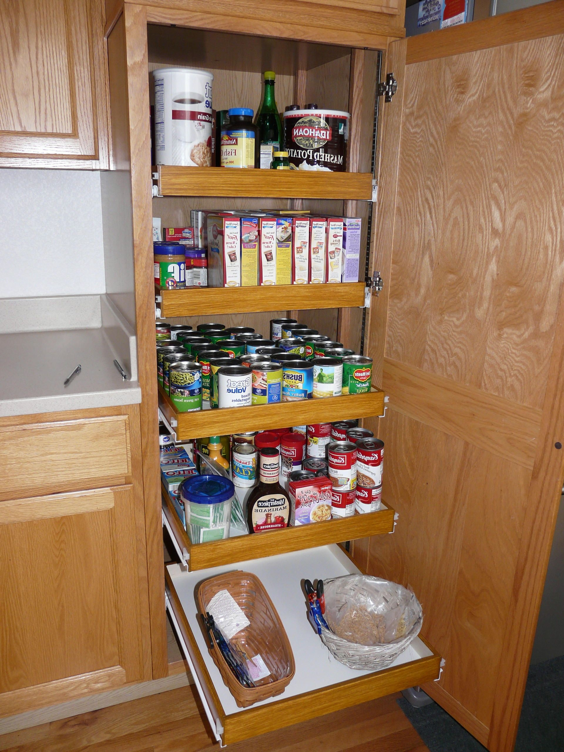 Pantry Cabinet Storage Systems