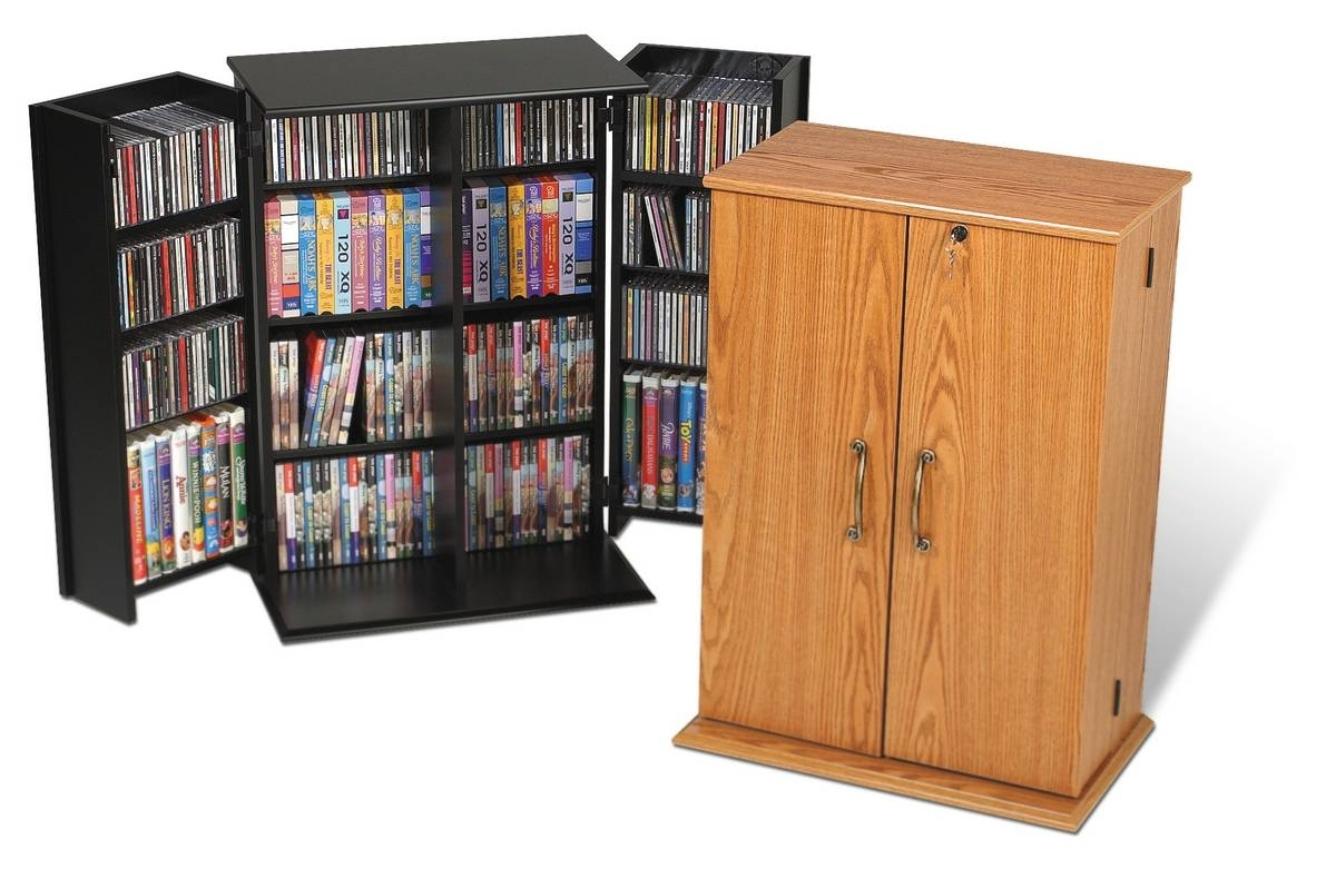 Prepac Small Locking Media Storage Cabinet