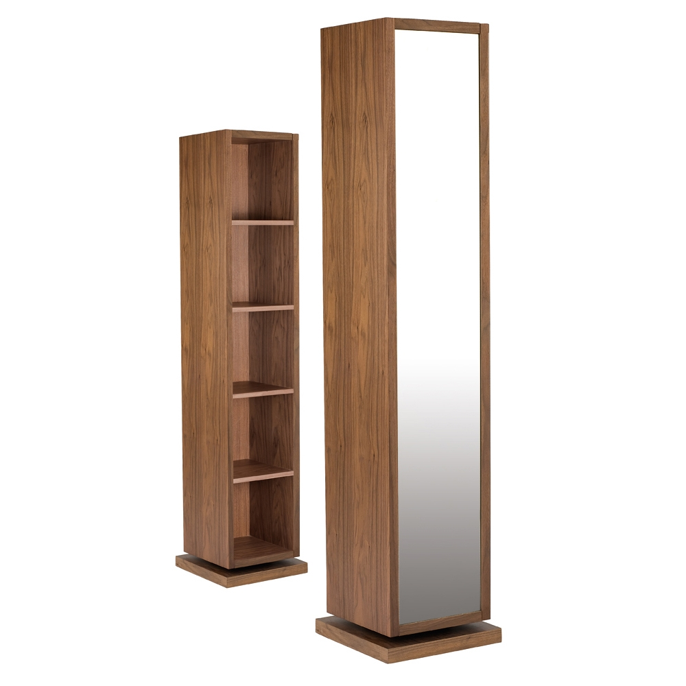 Rotating Storage Cabinet With Mirror