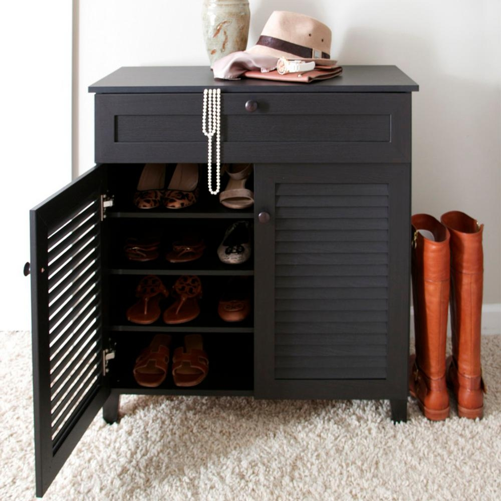 Shoe Storage Cabinet With Top Drawer