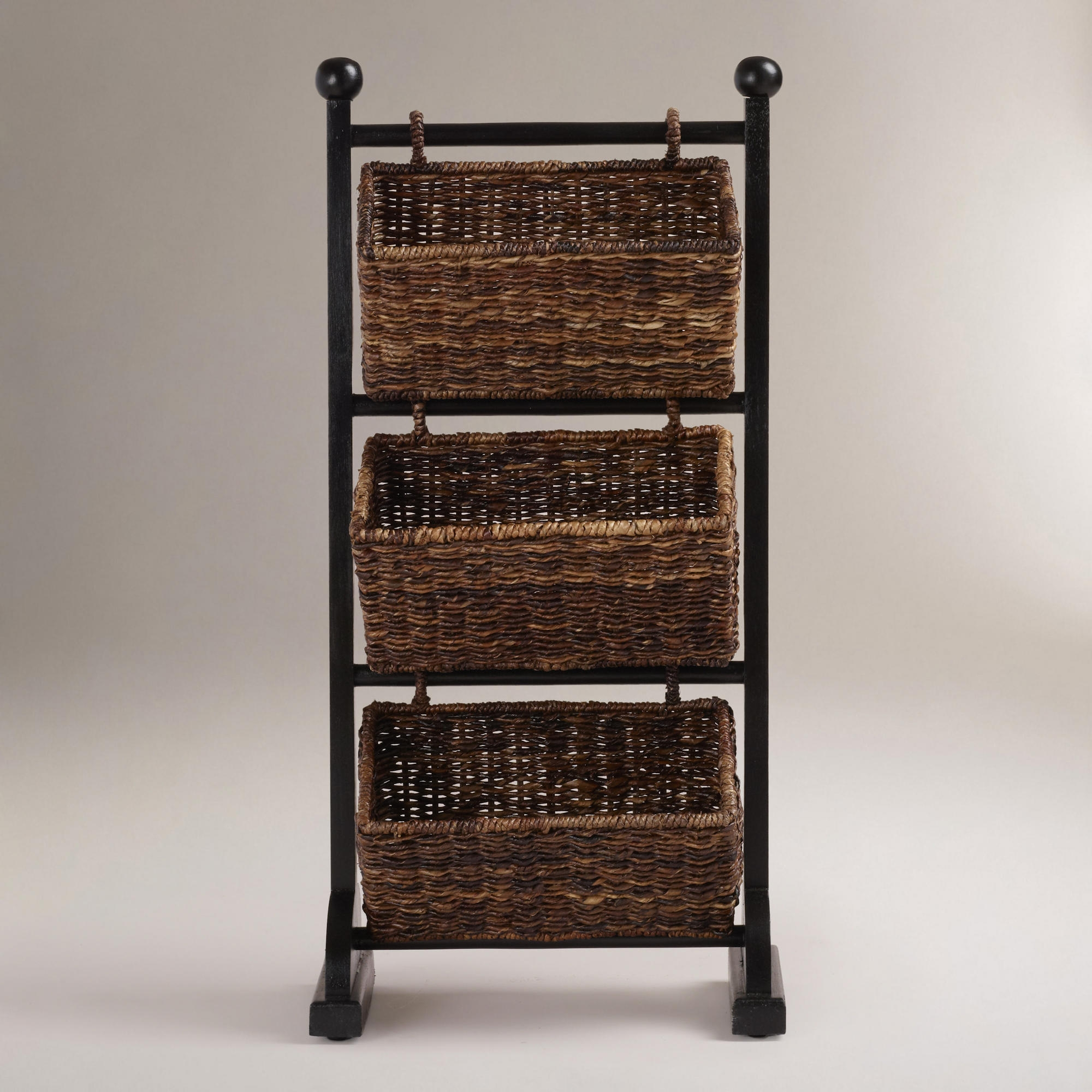 Small Storage Cabinet With Baskets