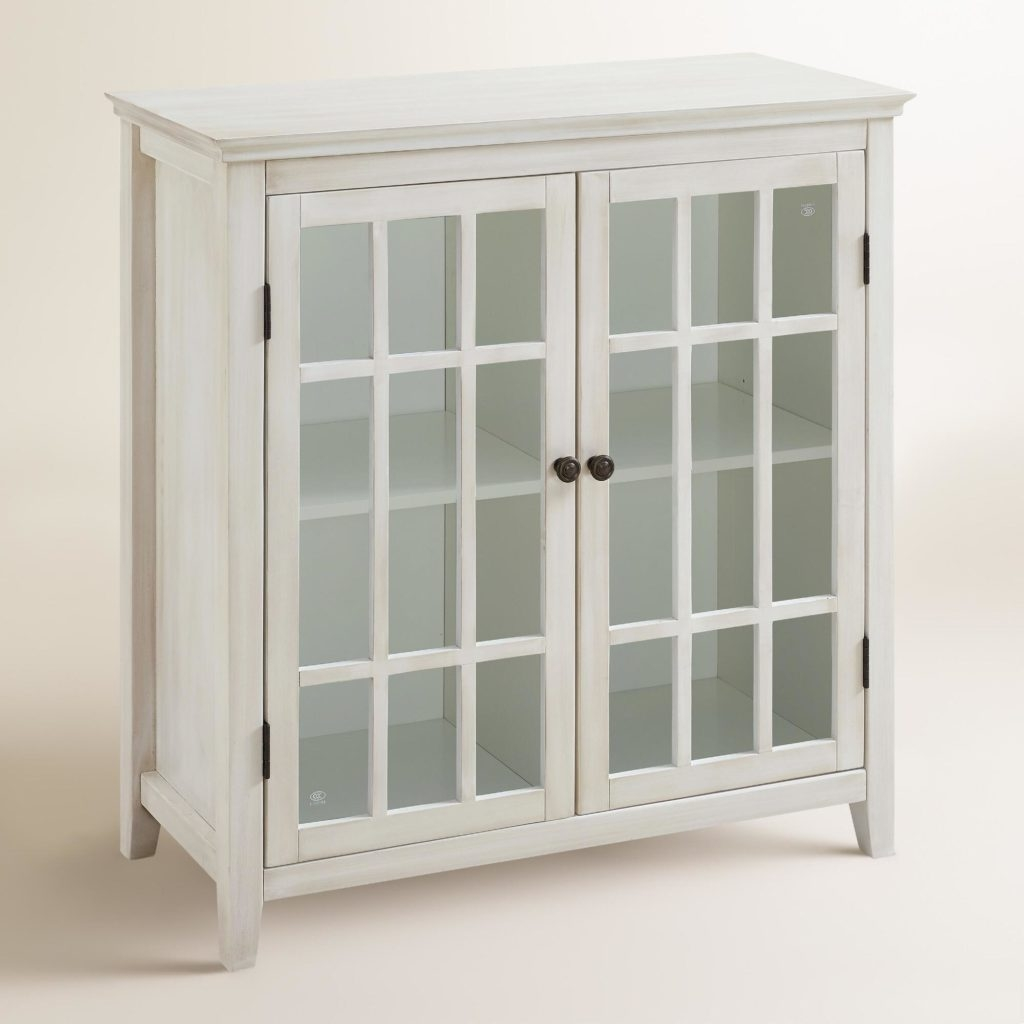 Small Storage Cabinet With Glass Doors