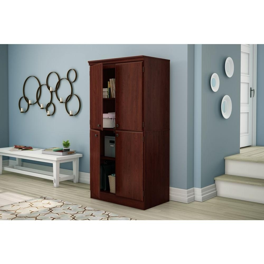 South Shore Morgan Collection Storage Cabinet Pure Black Finish