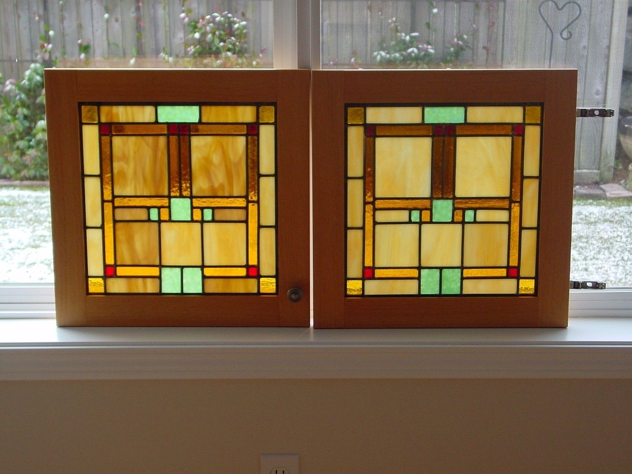Stained Glass Storage Cabinet