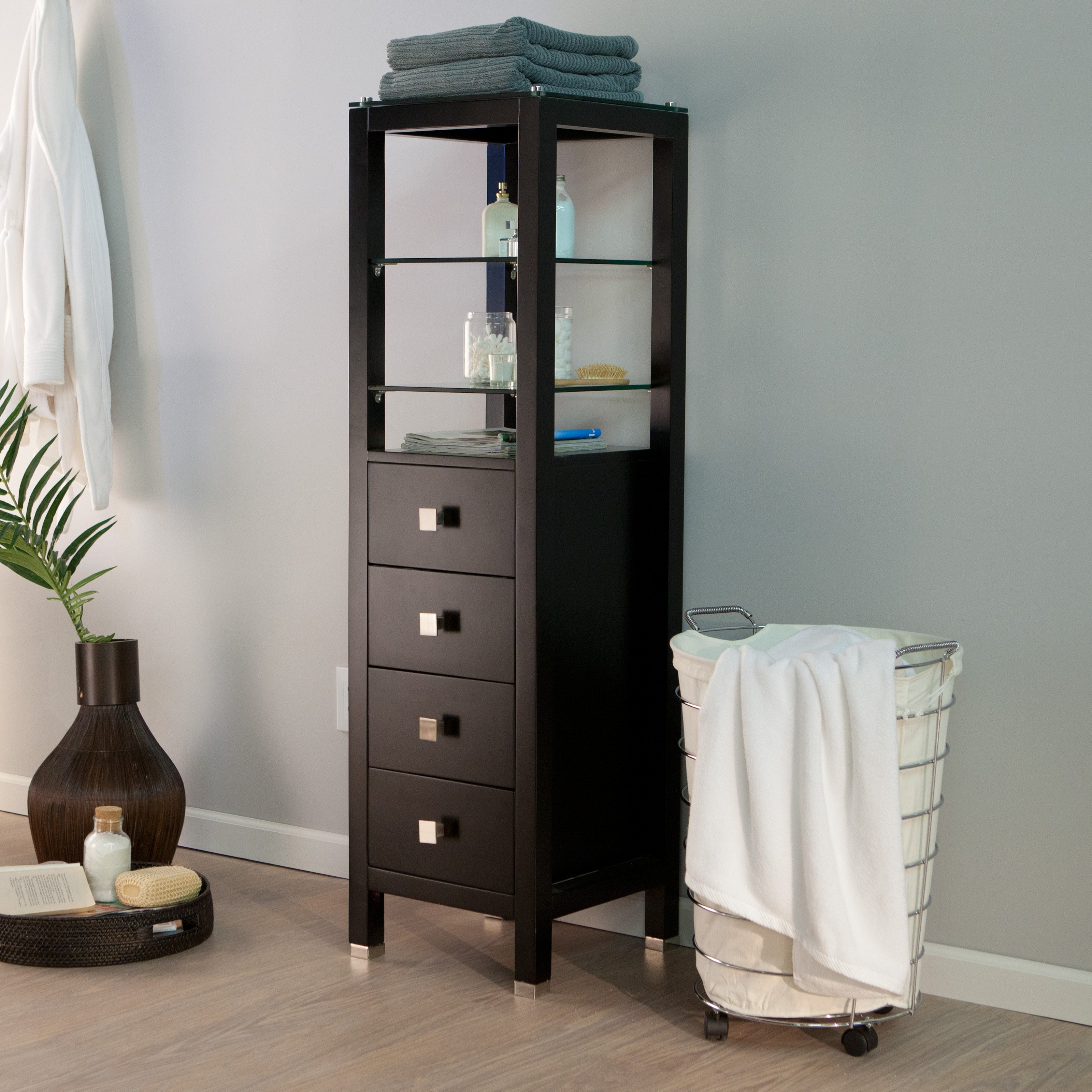 Storage Cabinet With Drawers And Shelves