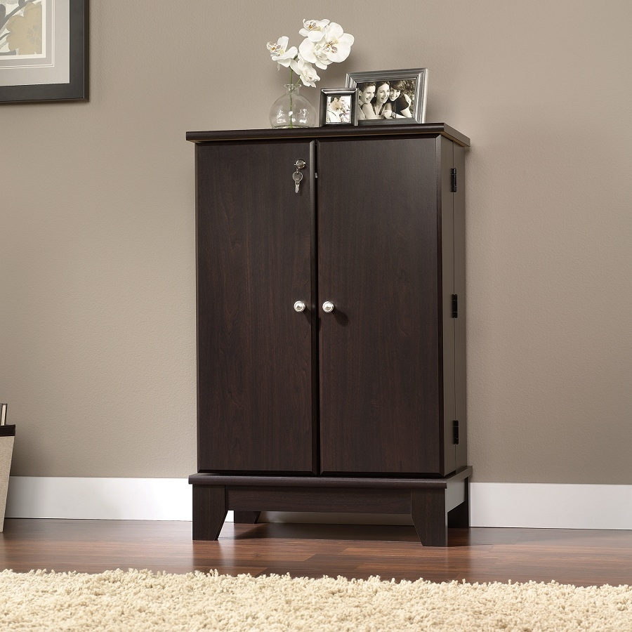 Storage Cabinet With Lock Wood