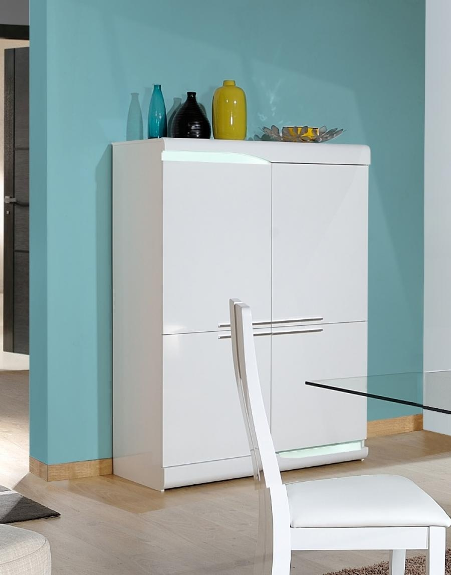 White High Gloss Storage Cabinet