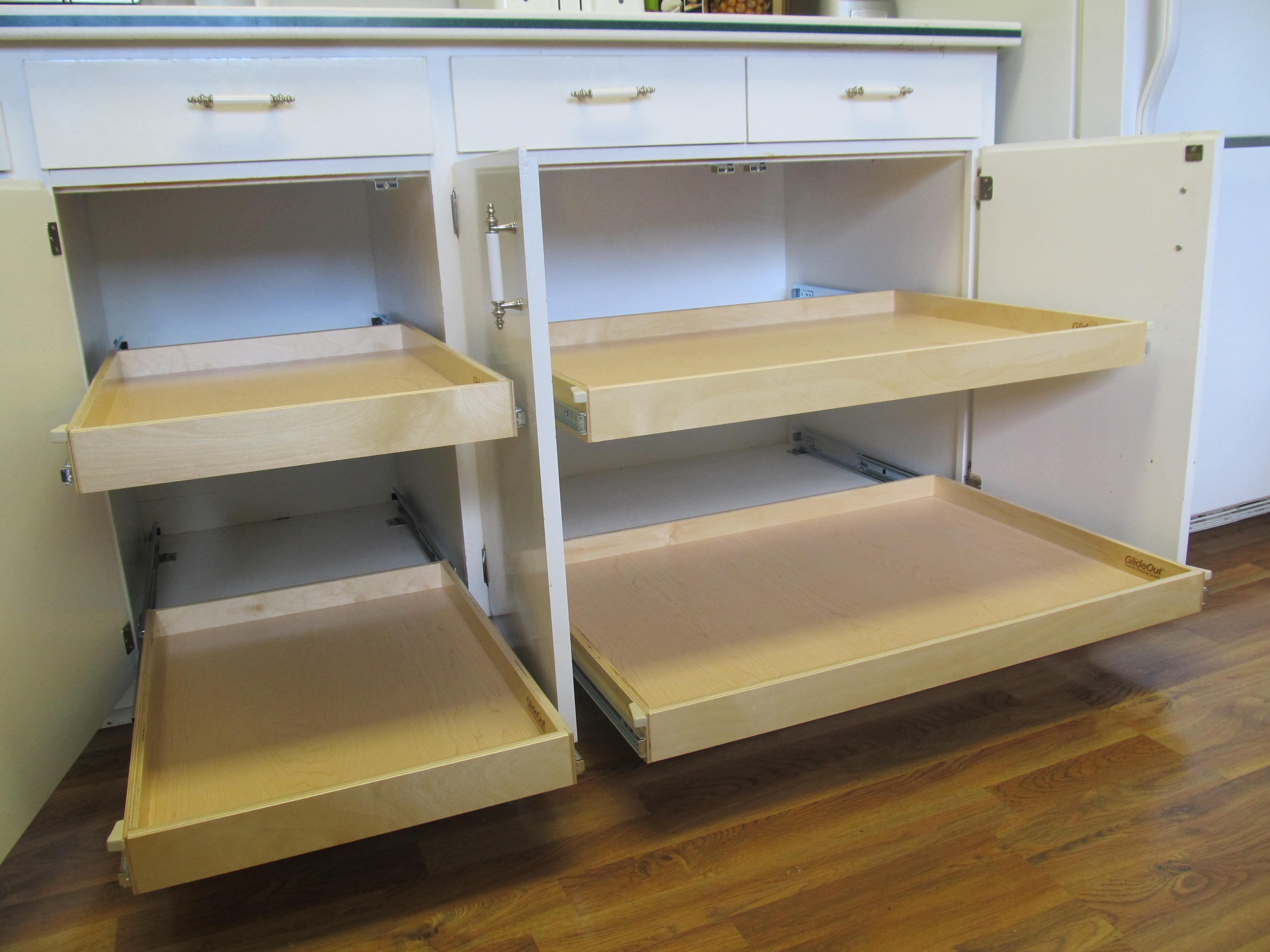 2 Door Storage Cabinet With Pull Out Drawers