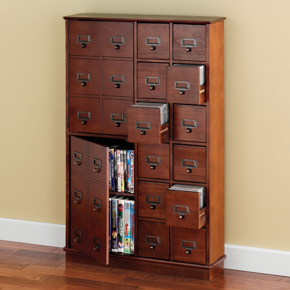Cd Dvd Media Storage Cabinet With Drawers