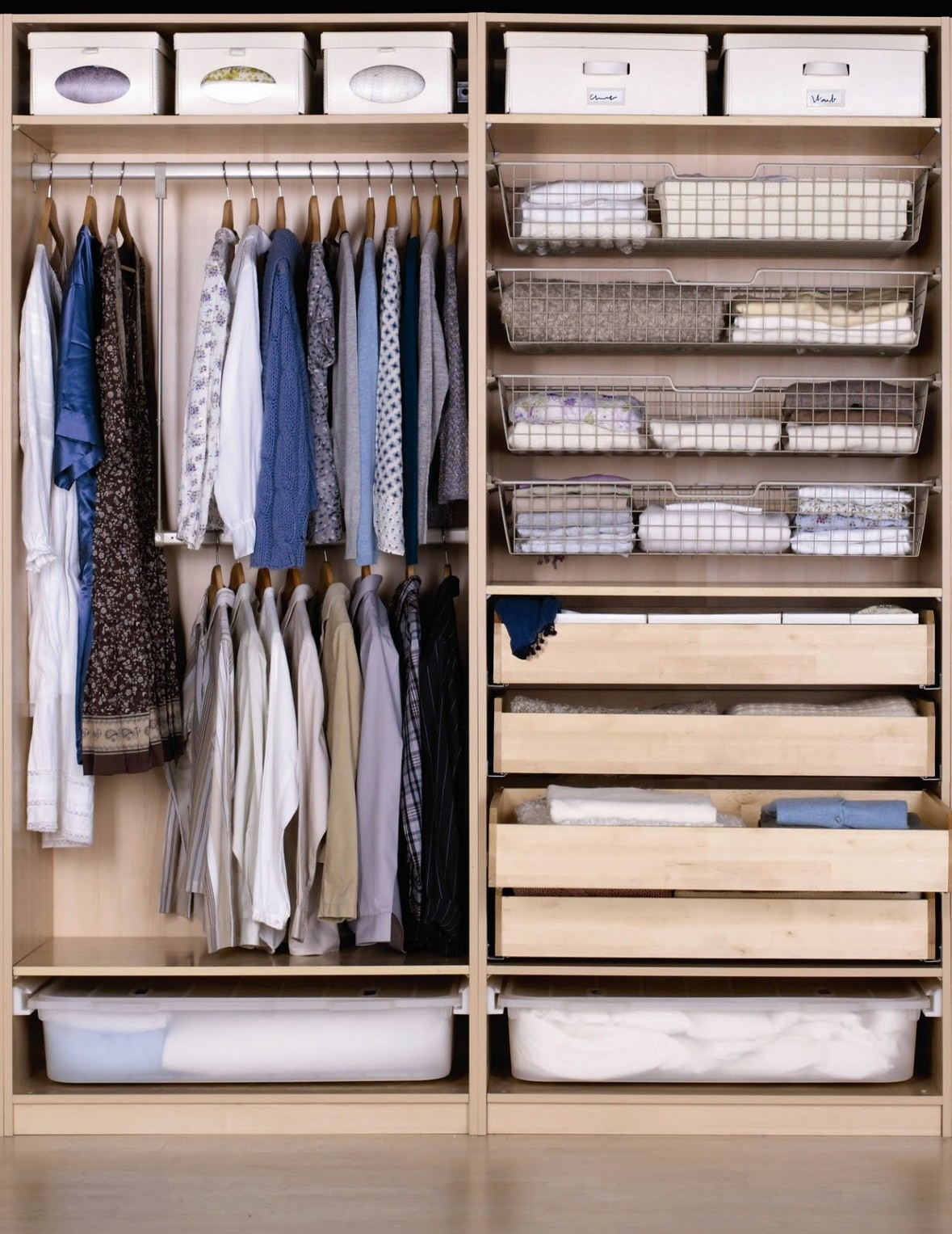 Hanging Clothes Storage Cabinets