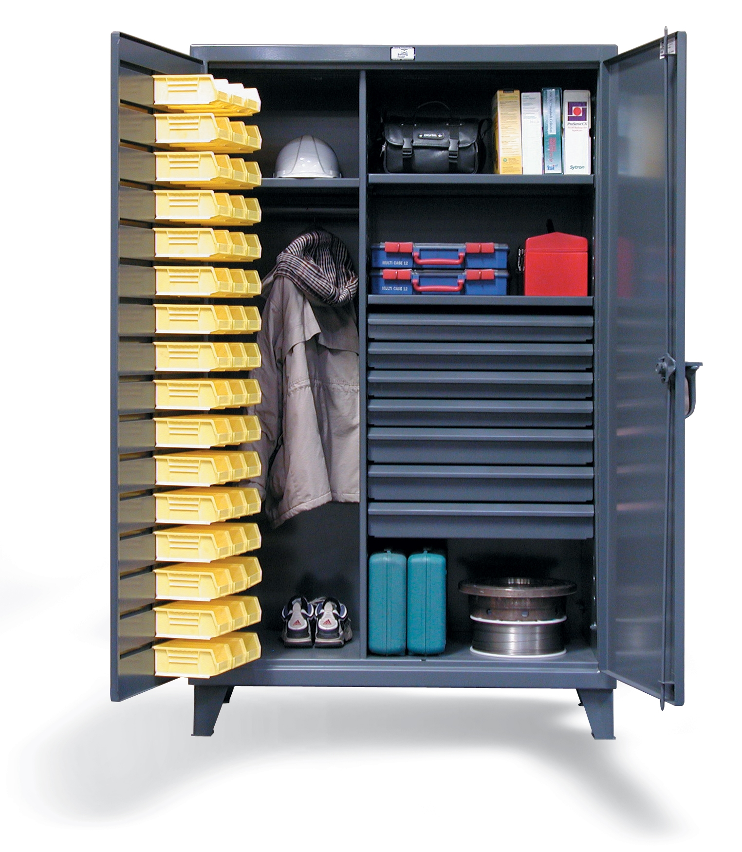 Industrial Storage Cabinets With Bins