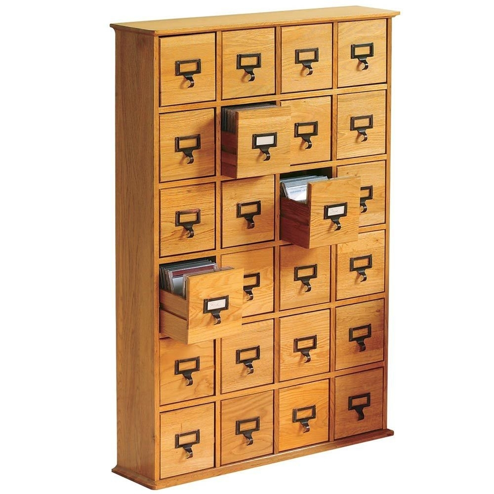 Library Cd Storage Cabinet 24 Drawer