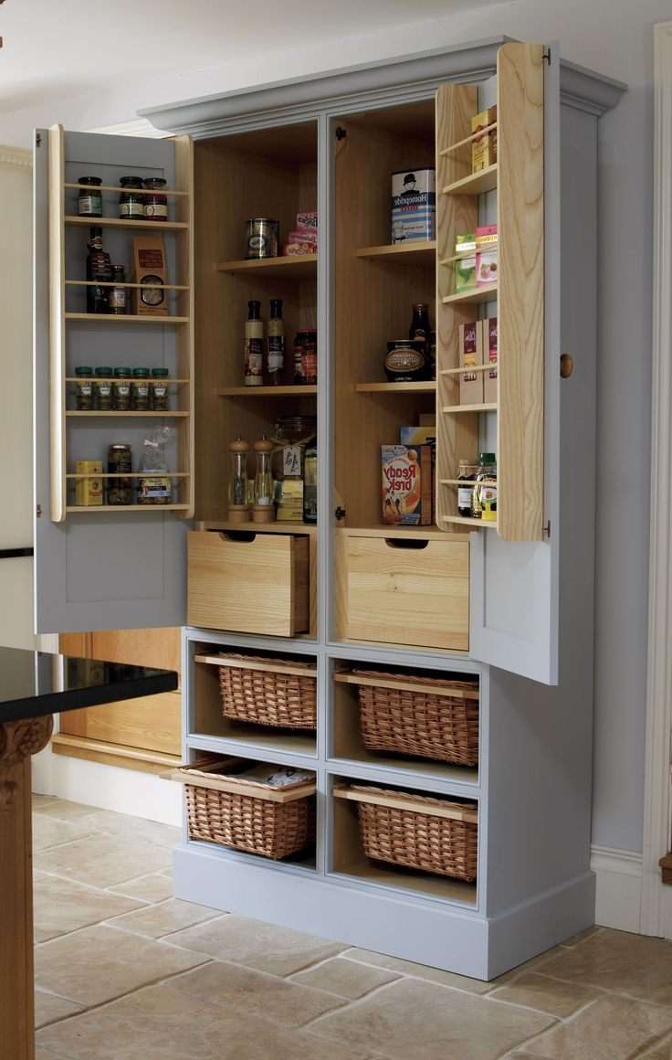 Solid Wood Kitchen Storage Cabinets