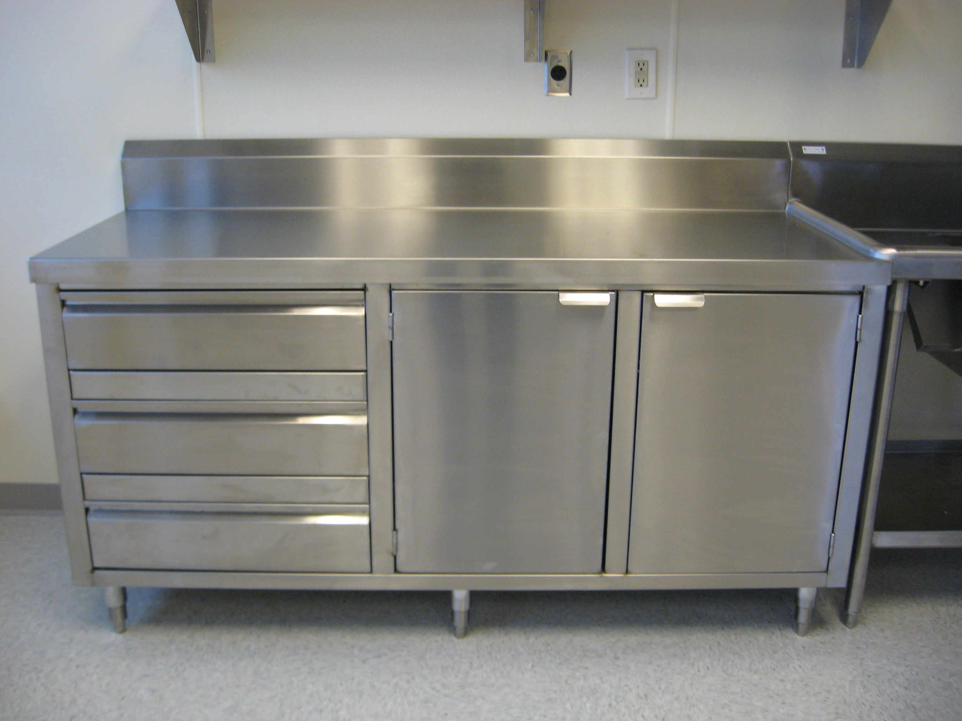 Stainless Steel Dish Storage Cabinet