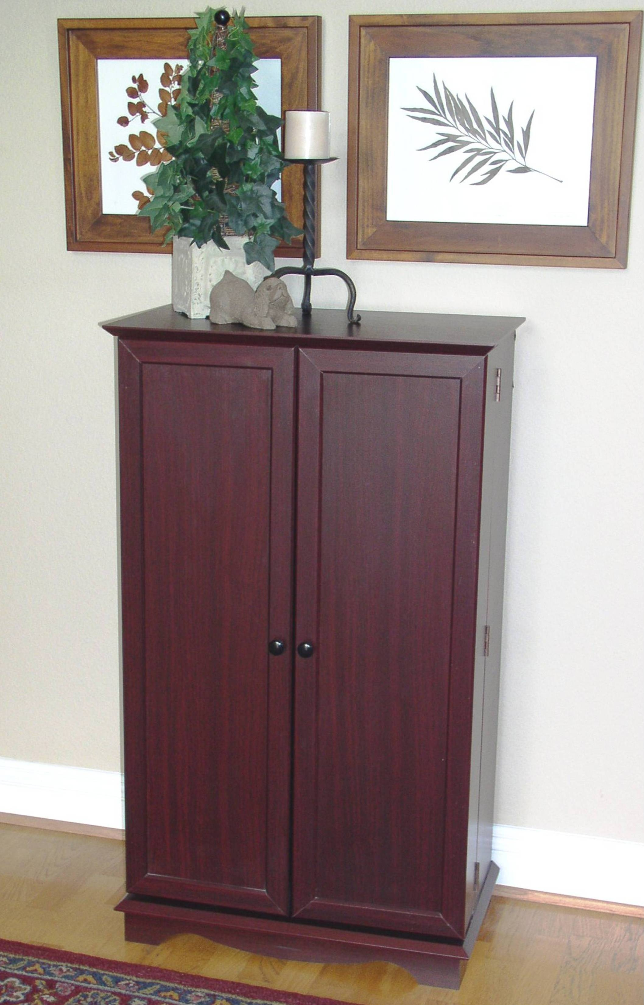 Storage Cabinet Cherry Wood