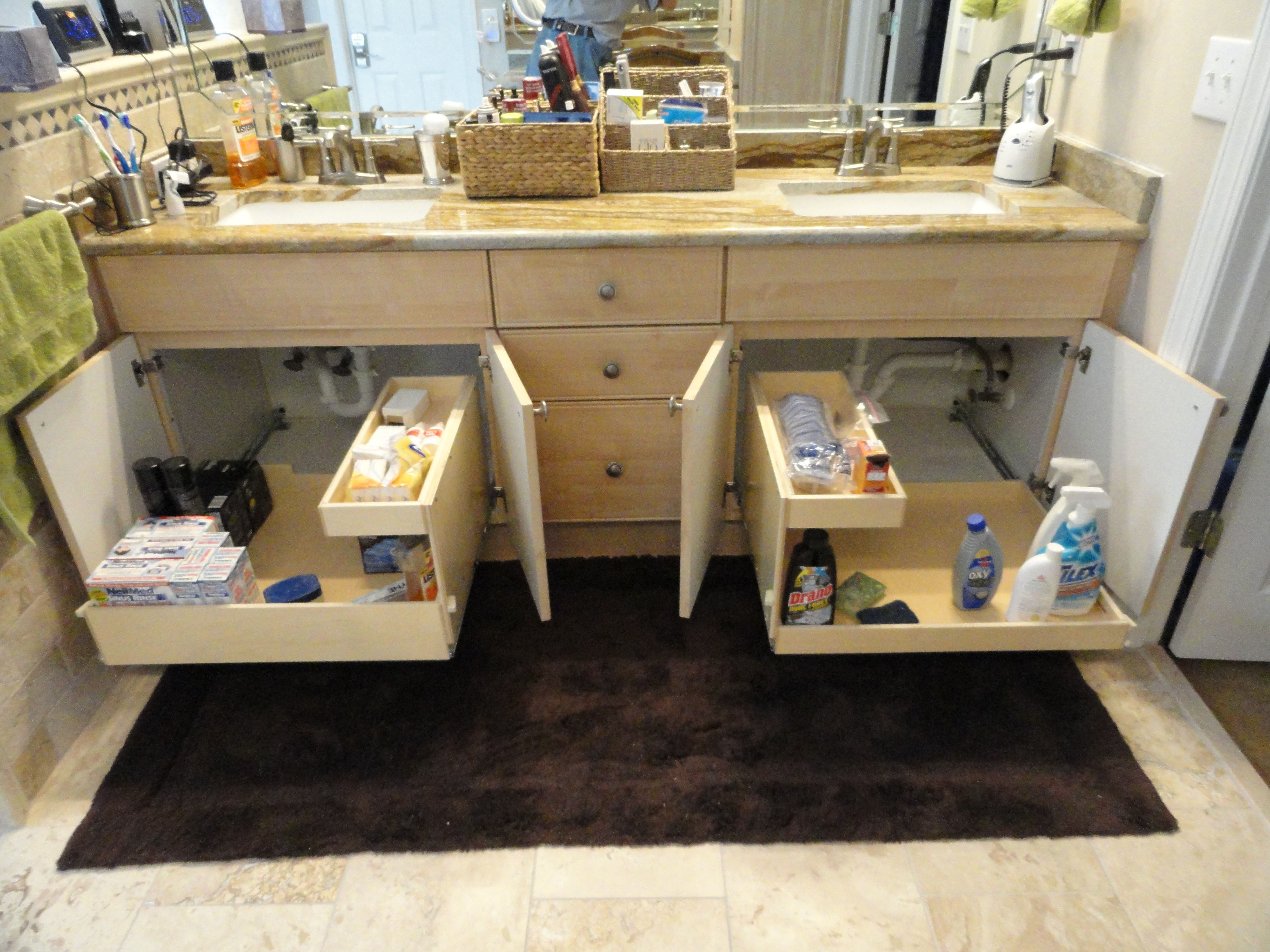 Storage For Inside Bathroom Cabinets