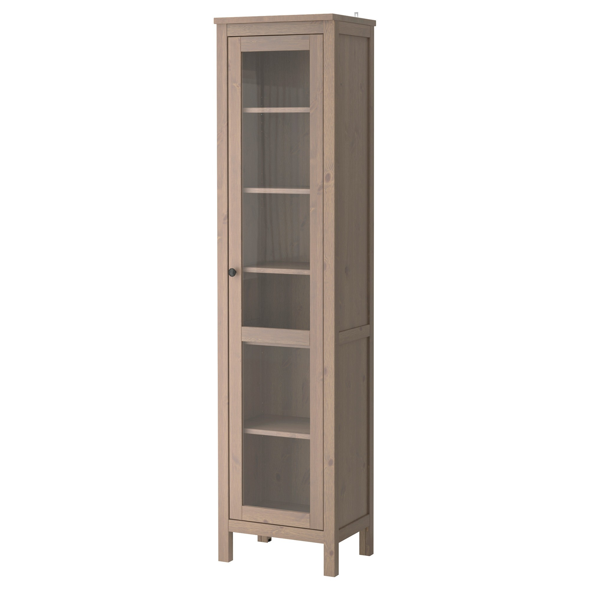 Tall Wood Storage Cabinets With Glass Doors