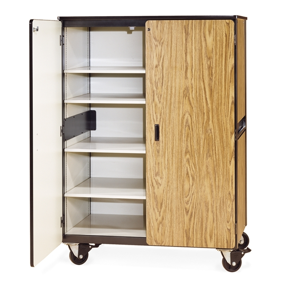 Tote Tray & Shelving Storage Cabinet