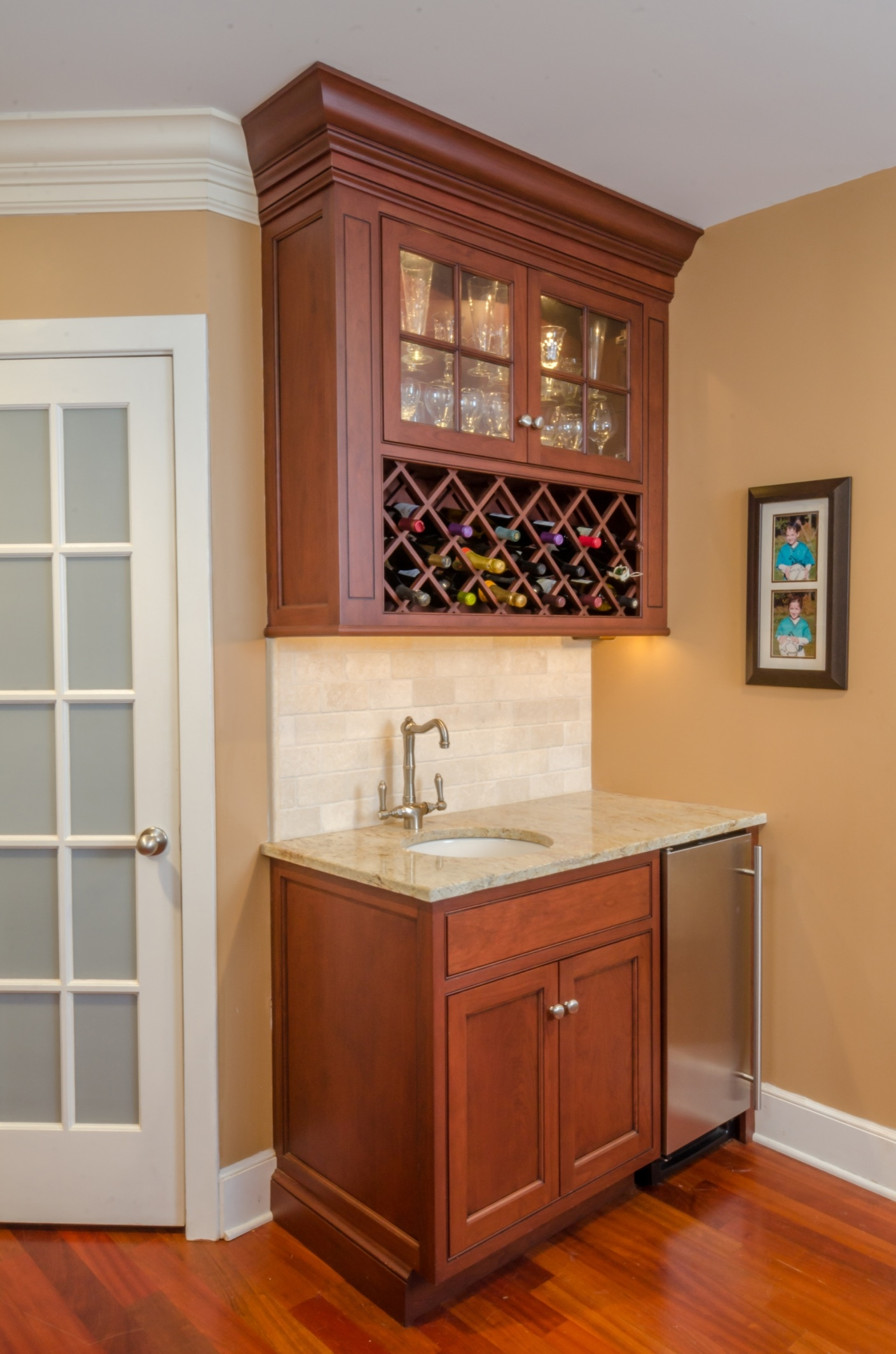 Upper Cabinet Wine Storage